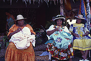 Women quilting, Papeete, Tahiti (editorial use only, not model released)<br />