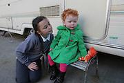 The Ward family, Leyton Road, Stratford, January 2012