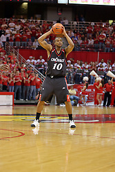 08 December 2007: Marcus Sikes. The Cincinnati Bearcats take a loose against the Illinois State Redbirds 62-52 on Doug Collins Court in Redbird Arena on the campus of Illinois State University in Normal Illinois.