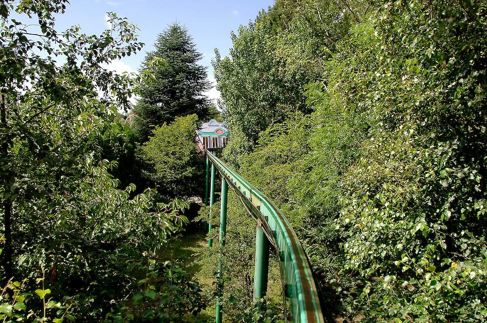 """""""Bagatelle"""" est le premier parc d'attractions construit en France, Merlimont, près du Touquet, Nord-Pas-de-Calais, France.<br /> """"Bagatelle"""" is the first amusement park built in France, town of Merlimont, close to Le Touquet, Nord-Pas-de-Calais region, France."""
