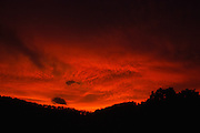 Bush mountain sunset after a rain storm - Australia <br /> <br /> Editions:- Open Edition Print / Stock Image