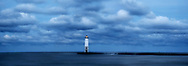 Frankfort North Breakwater Light On An Early And Stormy Morning In Michigan