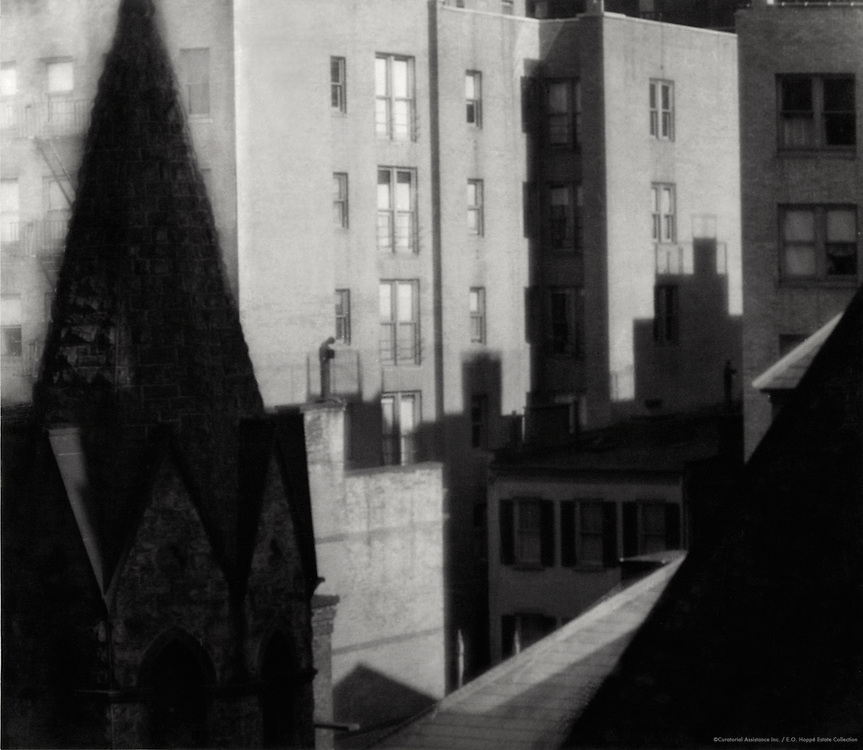 Rooftops, apartments, New York City (view from E.O. Hoppé's studio on West 57th Street), 1921