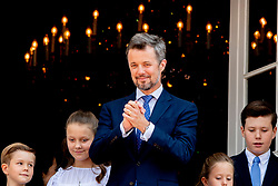 Crown Prince Frederik, Prince Christian, Princess Isabella, Prince Vincent and Princess Josephine celebrate 50th birthday of Crown Prince Frederik at the royal palace in Copenhagen, Denmark, on May 26, 2018. Photo by Robin Utrecht/ABACAPRESS.COM