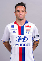 Mathieu Valbuena during the photocall of Lyon for new season of Ligue 1 on September 22nd 2016 in Lyon<br /> Photo : OL / Icon Sport