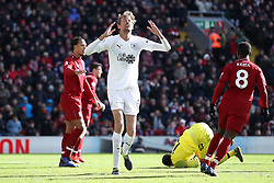 Burnley's Peter Crouch (centre) rues a missed chance