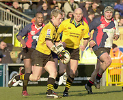 Wycombe, Buckinghamshire, 29th February 2004, Adams Park, [Mandatory Credit; Peter Spurrier/Intersport Images],<br /> 29/02/2004  -  Powergen  Cup - London Wasps v Pertemps Bees <br /> Wasps scrum half, Peter Richards.