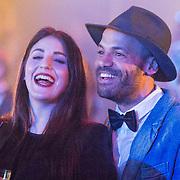 NLD/Amsterdam//20140331 - Uitreiking Edison Pop 2014, Alain Clark en partner Roza Lozica