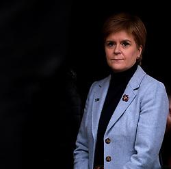 Independence Rally, Glasgow, Saturday 2nd November 2019<br /> <br /> Pictured: Nicola Sturgeon waits backstage to make her speech<br /> <br /> Alex Todd | Edinburgh Elite media
