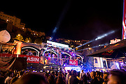 May 20-24, 2015: Monaco Grand Prix: Monaco GP night atmosphere at Rascasse