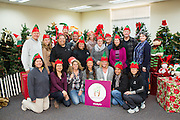 Cisco Systems, Inc., Global Procurement Services department poses for a group photo before sorting donated toys at The Family Giving Tree in Milpitas, California, on December 18, 2014. (Stan Olszewski/SOSKIphoto)