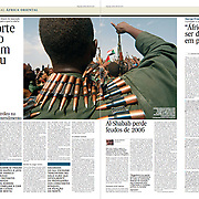 """Tearsheet of """"Sudan and South Sudan War"""" (feature story) published in Expresso"""