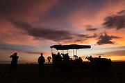 Sunset silhouette, Liuwa Plain.