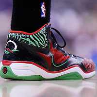 24 March 2014: Close view of Milwaukee Bucks guard Ramon Sessions (13) shoes during the Los Angeles Clippers 106-98 victory over the Milwaukee Bucks at the Staples Center, Los Angeles, California, USA.