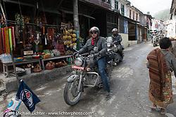 Danny Ochs passing through Modibeni on Day-7 of our Himalayan Heroes adventure riding from Tatopani to Pokhara, Nepal. Monday, November 12, 2018. Photography ©2018 Michael Lichter.