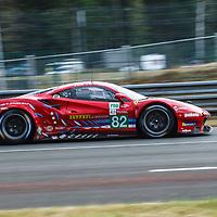 #82, Ferrari 488 GTE Evo, Risi Competizione, drivers: O. Pla, S. Bourdais, J. Gounon, GET Pro, Le Mans 24H 2020 on 20/09/2020