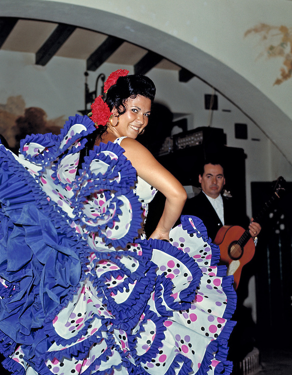 Flamenco dancing is a uniquely Andalusian art form, as seen here in Sevilla, Spain.