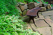 Bench sculpture, Chanticleer Gardens, Wayne, PA