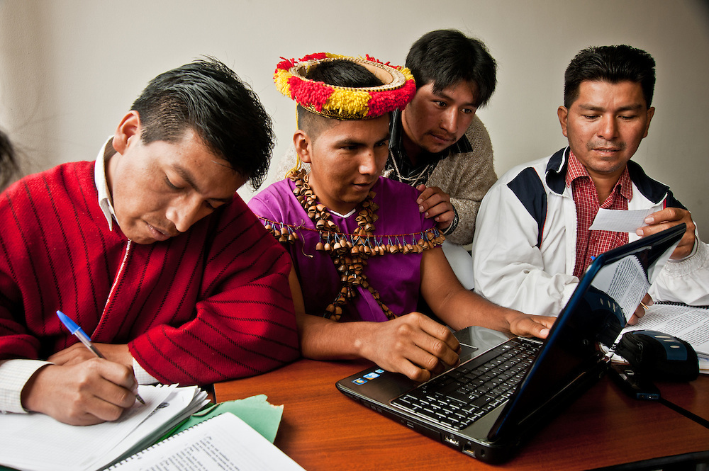 Indigenous Ecuadorian students are trained in a wide variety of scholarship programs.