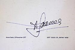 Anwar Sadat - Famous Guest's Signatures  On Floor In Kind David Hotel