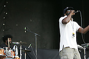 """Black Thought and Ahmir """"?uestlove"""" Thompson of The Roots performs during the second day of the 2007 Bonnaroo Music & Arts Festival on June 15, 2007 in Manchester, Tennessee. The four-day music festival features a variety of musical acts, arts and comedians..Photo by Bryan Rinnert."""