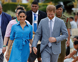 The Duke and Duchess of Sussex depart from Fua'amotu International Airport in Tonga on the second day of their visit.