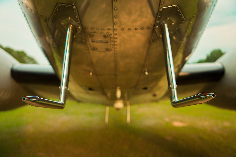 Pitot tubes on a restored Lockheed 12A Electra Junior. Fayetteville, Georgia.
