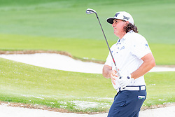 May 4, 2019 - Charlotte, NC, U.S. - CHARLOTTE, NC - MAY 04: Pat Perez hits from the sand on the 3rd hole during the third round of the Wells Fargo Championship at Quail Hollow on May 4, 2019 in Charlotte, NC. (Photo by William Howard/Icon Sportswire) (Credit Image: © William Howard/Icon SMI via ZUMA Press)