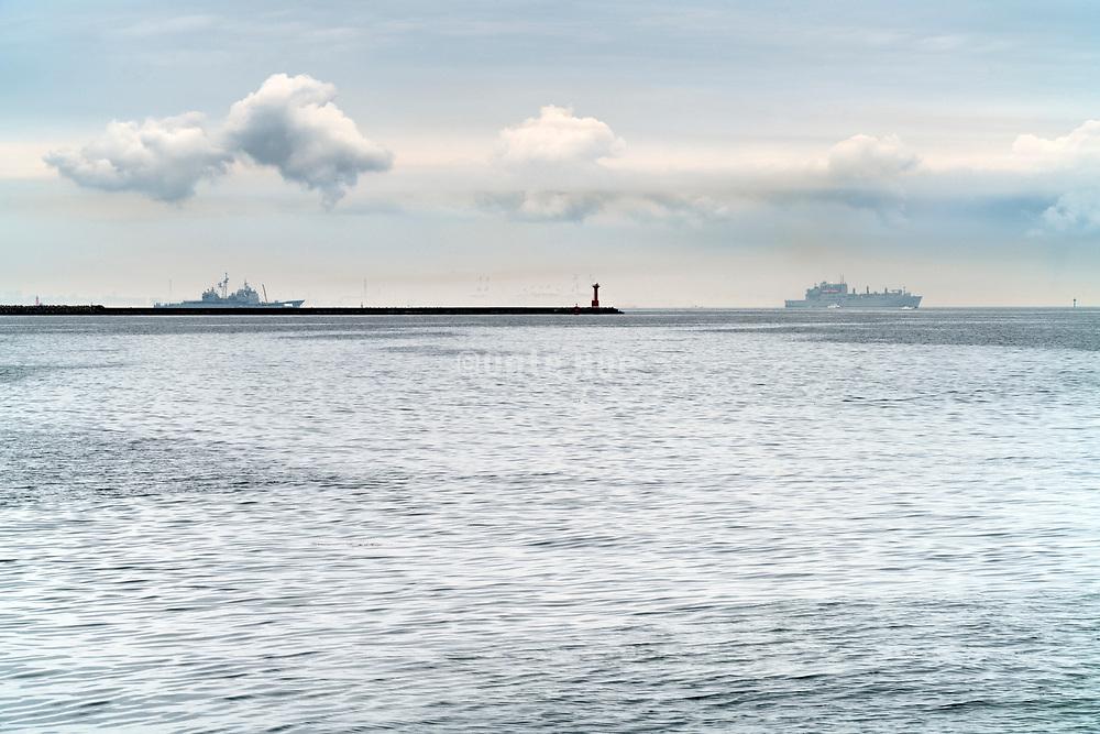 army ships in the Tokyo bay at Yokosuka Japan