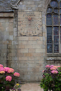 Sundial on the church of Notre Dame de Croaz Batz,  Roscoff, Brittany