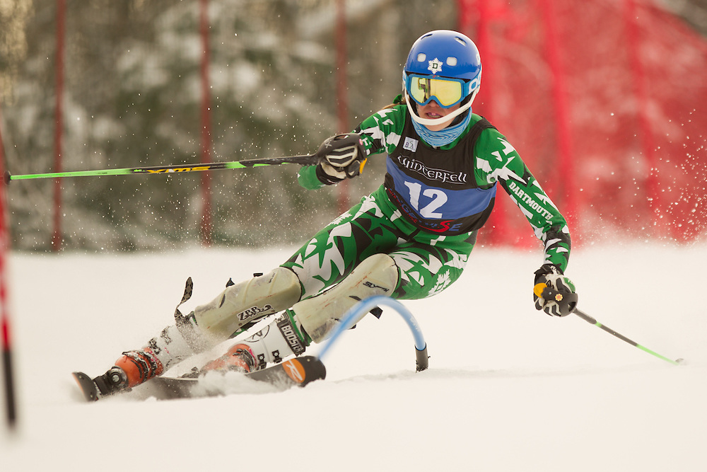 Anne Strong of Dartmouth College, skis during the first run of the women's slalom at the Colby College Carnival at Sugarloaf Mountain on January 18, 2014 in Carabassett Valley, ME. (Dustin Satloff/EISA)