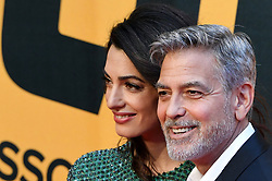 George Clooney and his wife Amal Alamuddin attend Catch-22 Premiere on May 13, 2019 in Rome, Italy. Photo by Eric Vandeville/ABACAPRESS.COM