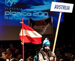 18.03.2010, Triglav, Planica, SLO, FIS SKI Flying World Championships 2010, Eroeffnung, im Bild Feature Österreich, EXPA Pictures © 2010, PhotoCredit: EXPA/ J. Groder / SPORTIDA PHOTO AGENCY
