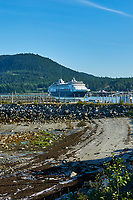 Haines Beach and Harbor Panorama. Image 10 of 11 images taken with a Nikon D300 camera and 18-200 mm VR lens (ISO 400, 34 mm, f/11, 1/500 sec). Raw images processed with Capture One Pro. Composite panorama created using AutoPano Giga.