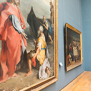 Paintings by Bonifazio de' Pitati (Bonifazio Veronese) (1487-1553) on display at the Royal Museums of Fine Arts in Belgium (in French, Musées royaux des Beaux-Arts de Belgique), one of the most famous museums in Belgium. The complex consists of several museums, including Ancient Art Museum (XV - XVII century), the Modern Art Museum (XIX ­ XX century), the Wiertz Museum, the Meunier Museum and the Museé Magritte Museum.