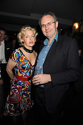 WENDY, COUNTESS OF CALEDON and WILLIAM CASH at the Quintessentially Christmas Party held at Kitts, Sloane Square, London on 2nd December 2008.