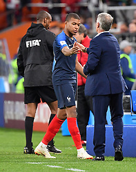 France's Kylian Mbappe during the World Cup 2018, France vs Perou at the Arena stadium in Ekateringburg Russia on June 21 , 2018. Photo by Christian Liewig/ABACAPRESS.COM