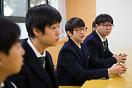 The students Young hwan Kim and Kiwon Song. Shinil High School, Seoul, South Korea.