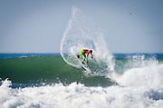 Gabriel Medina, winner of the Rip Curl Pro Search surf contest at San Francisco, California on November 2, 2011