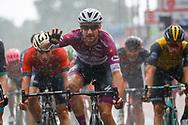 Arrival sprint Elia Viviani (ITA - QuickStep - Floors) celebration during the 101th Tour of Italy, Giro d'Italia 2018, stage 17, Riva del Garda - Iseo 155 km on May 23, 2018 in Italy - Photo Luca Bettini / BettiniPhoto / ProSportsImages / DPPI