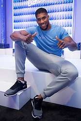 Anthony Joshua during the media day for the launch event of FitWater by Lucozade Sport at the ME Hotel, London.