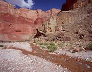 Nankoweap Creek delta, looking east/downstream, Colorado River mile 52/53, Grand Canyon National Park, Arizona, USA; 4 May 2008; Pentax 67II & Velvia