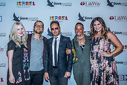 October 11, 2016 - Nashville, Tennessee, USA - Lacie Fowler, Bryan Fowler, TobyMac, Amanda Levy McKeehan and Hillary Scott at the 47th Annual GMA Dove Awards  in Nashville, TN at Allen Arena on the campus of Lipscomb University.  The GMA Dove Awards is an awards show produced by the Gospel Music Association. (Credit Image: © Jason Walle via ZUMA Wire)