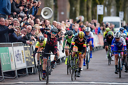 Alexis Ryan sprints to the win at Drentse 8 van Westerveld 2018 - a 142 km road race on March 9, 2018, in Dwingeloo, Netherlands. (Photo by Sean Robinson/Velofocus.com)