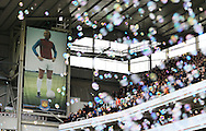 A poster West Ham's Bobby Moore as the bubbles fill the air<br /> <br /> Barclays Premier League - West Ham United  vs Crystal Palace  - Upton Park - England - 28th February 2015 - Picture David Klein/Sportimage