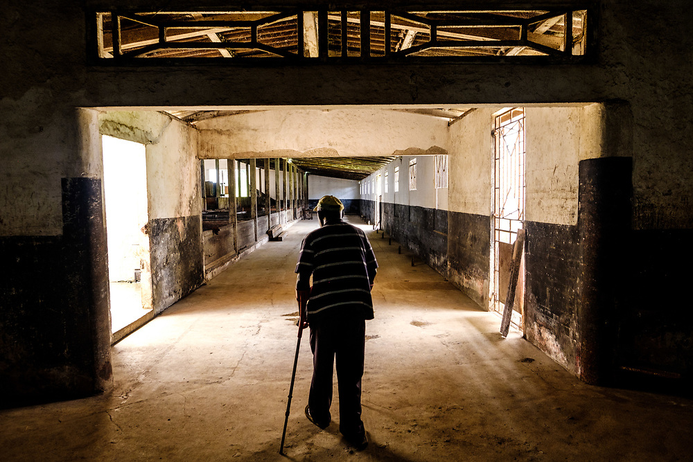 And old worker showing around Roça Agostinho Neto. This old cocoa farm is the largest in São Tomé.