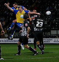 Photo: Steve Bond.<br />Notts County v Hereford United. Coca Cola League 2. 02/10/2007. Goalmouth action