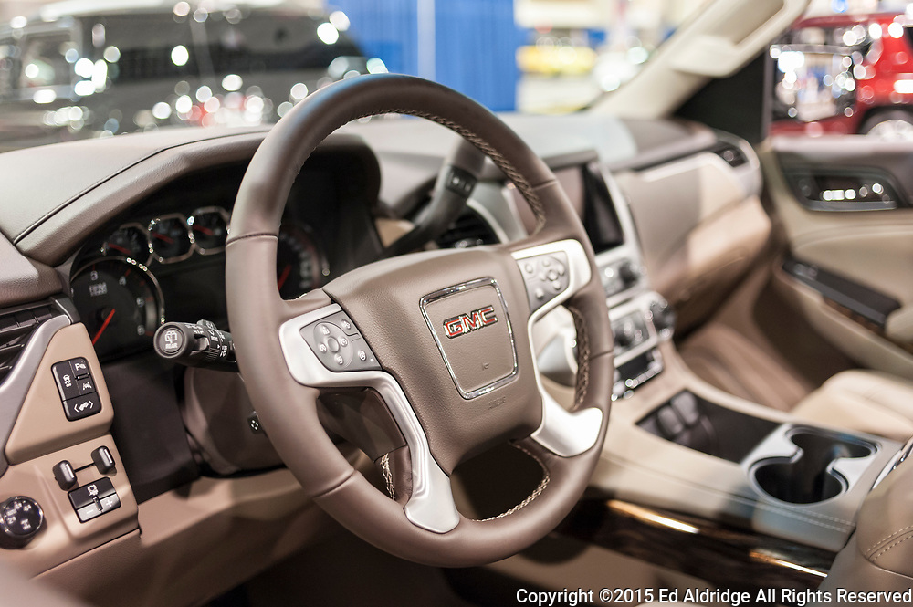 CHARLOTTE, NC, USA - November 11, 2015: GMC Yukon on display during the 2015 Charlotte International Auto Show at the Charlotte Convention Center in downtown Charlotte.