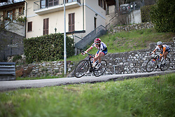 Clara Koppenburg (Cervélo-Bigla Cycling Team) leans into the corner in the third, short lap of the Trofeo Alfredo Binda - a 123.3km road race from Gavirate to Cittiglio on March 20, 2016 in Varese, Italy.