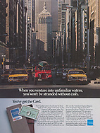 American Express, get cash in unfamiliar waters , Park Avenue New York